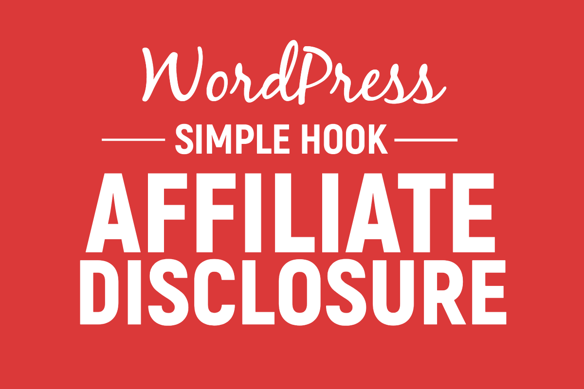 Affiliate marketing websites disclosure
